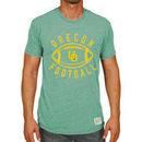 Oregon Ducks Original Retro Brand Vintage Football Tri-Blend T-Shirt - Heather Green