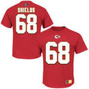 Will Shields Kansas City Chiefs Majestic Hall of Fame Eligible Receiver II Name & Number T-Shirt - Red