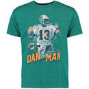 Dan Marino Miami Dolphins NFL Pro Line Retired Player Tri-Blend T-Shirt - Aqua