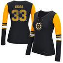 Zdeno Chara Boston Bruins Reebok Women's Edge PlayDry Long Sleeve Jersey T-Shirt - Black
