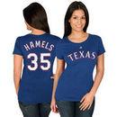 Cole Hamels Texas Rangers Majestic Women's Name & Number T-Shirt - Royal