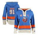 John Tavares New York Islanders Old Time Hockey Women's Lacer Name & Number Hoodie - Royal