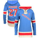 Ryan McDonagh New York Rangers Old Time Hockey Women's Lacer Name & Number Hoodie - Blue