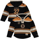 Patrice Bergeron Boston Bruins Old Time Hockey Youth Current Player Lacer Name & Number Pullover Hoodie - Black