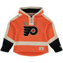 Claude Giroux Philadelphia Flyers Old Time Hockey Youth Current Player Lacer Name & Number Pullover Hoodie - Orange
