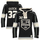 Jonathan Quick Los Angeles Kings Old Time Hockey Youth Current Player Lacer Name & Number Pullover Hoodie - Black