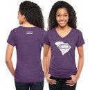 NASCAR Classic Women's Darlington Original Too Tri-Blend V-Neck T-Shirt - Purple
