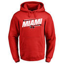 Miami University RedHawks Double Bar Pullover Hoodie - Red