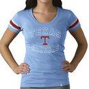 Texas Rangers '47 Women's Off Campus Vintage Logo T-Shirt - Blue