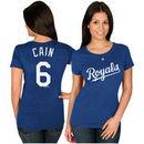 Lorenzo Cain Kansas City Royals Majestic Women's Name & Number T-Shirt - Royal