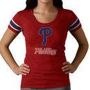 Philadelphia Phillies '47 Women's Off Campus II Top Logo Below Team Name T-Shirt - Red