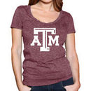 Texas A&M Aggies Original Retro Brand Women's Mock Twist V-Neck T-Shirt - Maroon