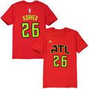 Kyle Korver Atlanta Hawks Youth Game Time Flat Name and Number T-Shirt - Red