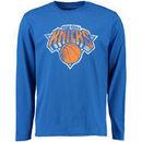 New York Knicks Distressed Long Sleeve T-Shirt - Royal