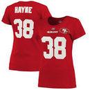 Jarryd Hayne San Francisco 49ers Majestic Women's Fair Catch T-Shirt - Scarlet