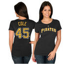 Gerrit Cole Pittsburgh Pirates Majestic Women's Name & Number T-Shirt - Black