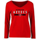 San Diego State Aztecs Women's Team Strong Long Sleeve T-Shirt - Red
