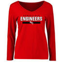 Rensselaer Polytechnic Institute Engineers Women's Team Strong Long Sleeve T-Shirt - Red