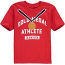 Team USA Toddler Gold Medal Kid T-Shirt - Red