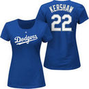Clayton Kershaw Los Angeles Dodgers Majestic Women's Plus Size Name & Number T-Shirt - Royal