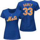 Matt Harvey New York Mets Majestic Women's Plus Size Name & Number T-Shirt - Royal