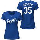 Eric Hosmer Kansas City Royals Majestic Women's Plus Size Name & Number T-Shirt - Royal