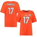 Ryan Tannehill Miami Dolphins Majestic Women's Plus Size Fair Catch Name & Number T-Shirt - Orange
