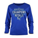 Kansas City Royals 5th & Ocean by New Era Women's 2015 World Series Champions Long Sleeve T-Shirt - Royal