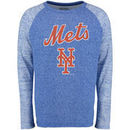 New York Mets Majestic Threads Double Face Thermal Slub Raglan Long Sleeve T-Shirt - Royal