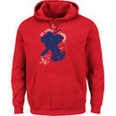 St. Louis Cardinals Majestic Swing Batter Peanuts Pullover Hoodie - Red
