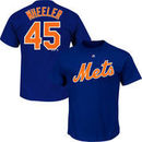 Zack Wheeler New York Mets Majestic Official Name & Number T-Shirt - Royal