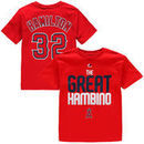 Josh Hamilton Los Angeles Angels Youth Who's On Deck Player T-Shirt - Red