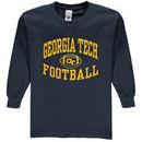 Georgia Tech Yellow Jackets New Agenda Youth Reversal Football Long Sleeve T-Shirt - Navy