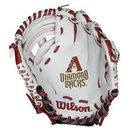 "Arizona Diamondbacks Wilson Youth 10"" Tee Ball Glove - White"