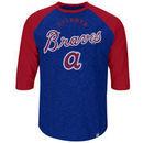 Atlanta Braves Majestic Don't Judge Cooperstown Three-Quarter Sleeve Raglan T-Shirt - Navy