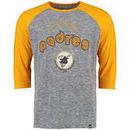 San Diego Padres Majestic Don't Judge Cooperstown Three-Quarter Sleeve Raglan T-Shirt - Gray/Gold