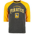 Pittsburgh Pirates Majestic Don't Judge Cooperstown Three-Quarter Sleeve Raglan T-Shirt - Charcoal/Gold