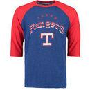 Texas Rangers Majestic Don't Judge Cooperstown Three-Quarter Sleeve Raglan T-Shirt - Royal/Red