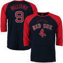 Ted Williams Boston Red Sox Majestic Player Tactics Cooperstown Three-Quarter Sleeve Raglan T-Shirt - Navy