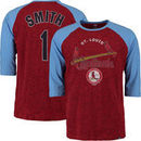 Ozzie Smith St. Louis Cardinals Majestic Player Tactics Cooperstown Three-Quarter Sleeve Raglan T-Shirt - Red