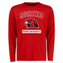 Miami University RedHawks Campus Icon Long Sleeve T-Shirt - Red