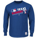 Texas Rangers Majestic Authentic Collection Team Choice Long Sleeve T-Shirt - Royal