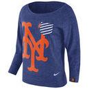 New York Mets Nike Women's Gym Vintage Pullover Sweatshirt - Royal