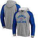 Toronto Blue Jays Comfort Colorblock Vintage Raglan Hoodie - Gray