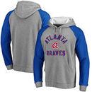 Atlanta Braves Comfort Colorblock Vintage Raglan Hoodie - Gray