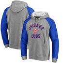 Chicago Cubs Comfort Colorblock Vintage Raglan Hoodie - Gray