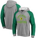 Oakland Athletics Comfort Colorblock Vintage Raglan Hoodie - Gray
