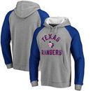 Texas Rangers Comfort Colorblock Vintage Raglan Hoodie - Gray