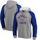 Detroit Tigers Comfort Colorblock Vintage Raglan Hoodie - Gray