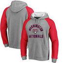 Washington Nationals Comfort Colorblock Vintage Raglan Hoodie - Gray